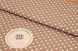 Leinen Lodge Webware Baumwolle Polka Dots Punkte BEIGE