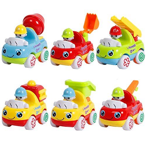 TONOR Giocattolo Set di 6 Camion con Movimento a Frizione 6 in 1 Set Motor Car Truck Automobiline Giocattolo per Bambini