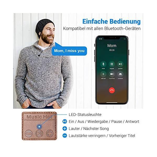 Cappello Bluetooth Bluetooth Beanie 5.0 , Cuffie a Cuffia wireless con Altoparlanti Stereo HD e MIC Incorporato… 4 spesavip