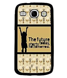 PRINTVISA The Future Premium Metallic Insert Back Case Cover for Samsung Galaxy Core - I8260 / I8260 - D5932