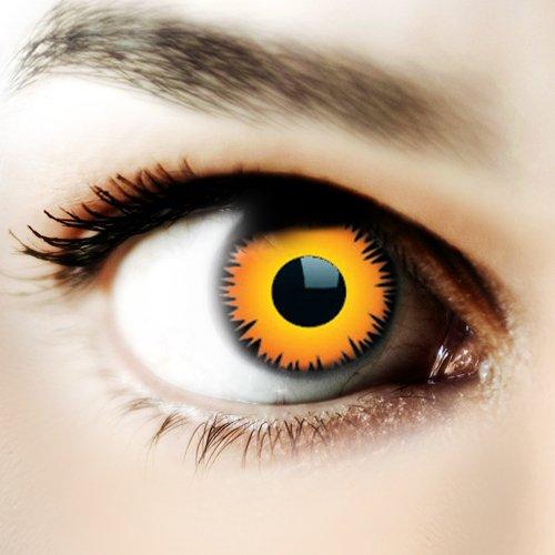 ewolf, 1er Pack (1 x 2 Stück) (Orange Halloween Augen Make-up)
