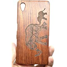 Holzsammlung® Sony Xperia Z5 Premium Funda de Madera - Elefante de palo de rosa - Natural Hecha a mano de Bambú / Madera Carcasa Case Cover