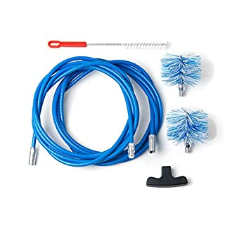 Cleaning kit for pellet stove - chimney sweeping kit - 6 metres - 2 tube brush 80mm and 100mm