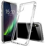 iPhone X Hülle - vau Hybrid Case Schutzhülle transparent - stabile Rückseite und flexibler Rahmen mit Airbagfunktion