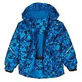 Jungen Ski-Jacken mit Kapuze, Snowsuit Wasserdichte Winter-Oberbekleidung mit Fleece Liner