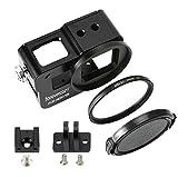 Forevercam aluminium protection boîtier (couverture arrière) Compatible GoPro HERO6 /HERO5 / HERO7 GoPro Accessoire,inclure des filtres UV 52 mm
