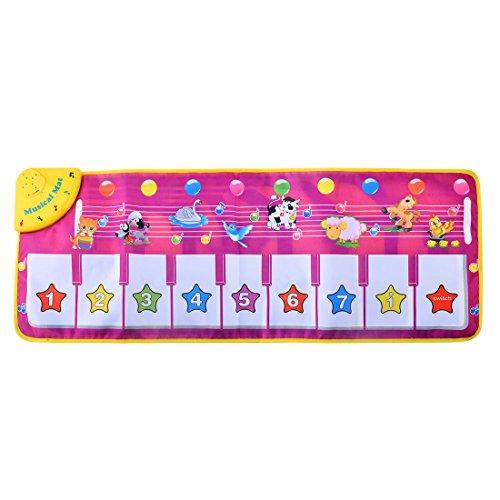 Decke Musik, Finer Shop Tiermuster-Baby Berühren spielen Keyboard Musical Musik Teppich Mat Blanket Früh Bildung Werkzeug (Touch Perfect Decke)