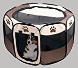 Pet Puppy Playpen Dog Kennel - Collapsible Folding Portable Pets Play Pen