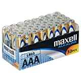 piles alcalines Maxell LR03 (AAA, pack famille 32er)