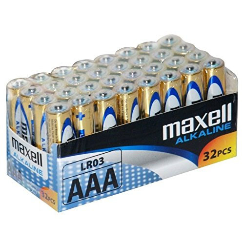Maxell LR03 AAA Batteries 32-pack