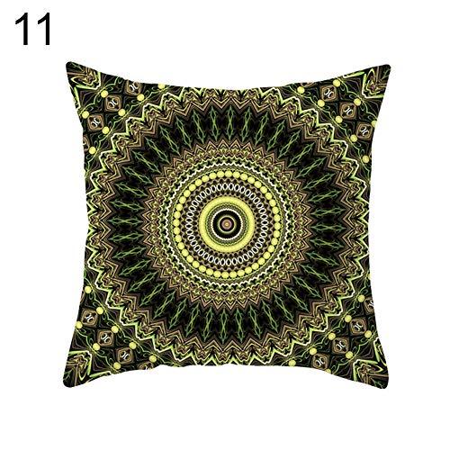 Ingrirt5Dulles Mandala Arabesque Flower Yin Yang Kissenbezug Kissenbezug Stuhl Sofa Decor 11# Arabesque Flower