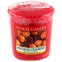 Yankee Candle Samplers Candele Votive Mandarin Cranberry, Cera, Rosso, 4.5 x 4.5 x 5 cm