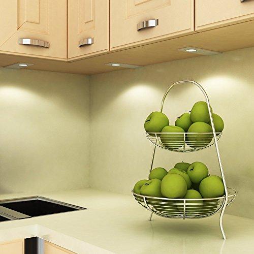LED Küchenleuchte Unterbauleuchte Aufbauleuchte Küchenlampe Unterbaustrahler SET, Auswahl:4er Set warmweiss