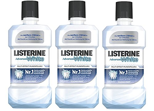 Listerine Advanced White, 3er Pack (3 x 500 ml)