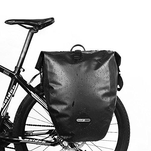 LKN Wasserfest 25L Fahrradtaschen Back-Roller Gepäckträgertaschen Anti-Riss Packtaschen Braun-1 piece