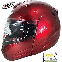 3GO 115 MODULARES MOTOCICLETA TURISMO DVS ECE ACU BURGANDY CASCO (M (57-58