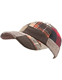 Hawkins Patchwork Tweed baseball cap with adjustable strap
