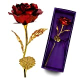 #10: Mehakent 10 Inch Artificial 24K Gold Foil Golden Rose Gift For Special Love One Gift With Certificate & Carry Bag Wedding Decoration Flower, Valentine's Day Gift lover's Red Foil Flowers Free Shipping Best Gift for Mother's Day, Valentine's Day, Wedding Day, Birthday
