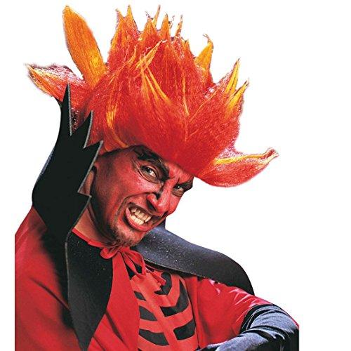 Punk Rocker Kostüm Perücke - NET TOYS Punk Teufel Perücke Dämon Haarperücke Teufelsperücke Rocker Devil Wig Satan Haare Faschingsperücke Fastnachtsperücke Karnevalsperücke Halloween Kostüm Zubehör