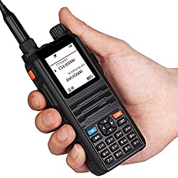 Walkie Talkie Profesional Largo Alcance EasyTalk CP2000 8W Doble Banda VHF UHF PMR446 Impermeable IP55 Portatil Emisora Radioaficionado con Auricular para Coche/caza