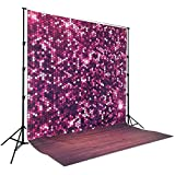 Coloc Photo® 150*220cm DEEP pink glitter bokeh shinning Sequin print photography backdrop for photo studio or party stage D-8040