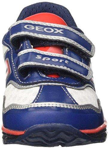Geox B Todo Boy A, Chaussures de Football Mixte Bébé Bleu (Navy/Red)