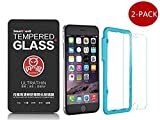 iPhone-6-6S-[Tempered-Glass]-Screen-Protector,Smart-Devil0.2mm-9H-Hard-2.5D-Crystal-Clear-Tempered-Glass-Include-Easy-Install-Tool-For-Apple-iPhone-6-6S-4.7-[2-PACK]