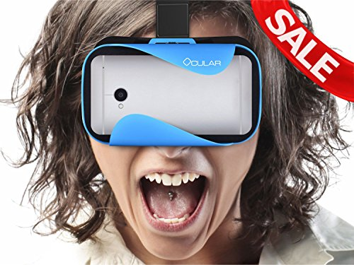 Ocular Rapid Virtual Reality Glasses (BLUE) - Fully Adjustable VR Headset with 42 MM Lenses - VR Box Compatible With 4.5