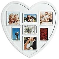 Corazón Marco de fotos,Portaretratos corazón, para 7 fotos - imágenes Forma ...