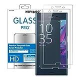 Novago Compatible avec Sony Xperia XZ, XZS Pack de 2 Films en Verre trempé résistant Non incurvé Plus Petit Que l'écran