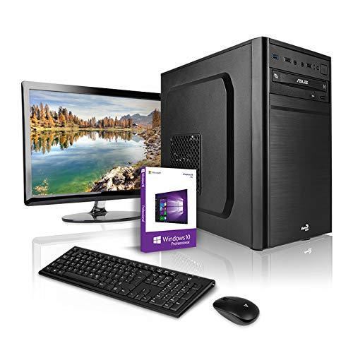 Megaport PC Set Pentium Gold G5400 2x3.70GHz • Schermo LED 24' • Tastiera/Mouse • 240GB SSD • 8GB DDR4-2400 RAM • Intel HD Graphics 610 • Windows 10 • DVD Brenner • WLAN Office PC