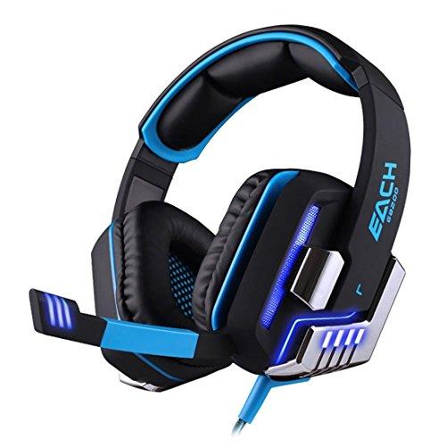... BlueBeach® G8200 Virtuale 7.1 per cuffie da gioco USB Surround Sound  con vibrazione intelligente 4d estrema Bass per PC Computer Gioco ... 45cf2ee63383
