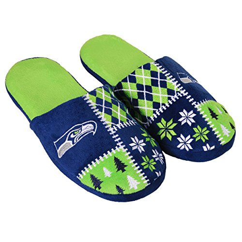 FOCO Seattle Seahawks Ugly Slide Slipper Extra Large