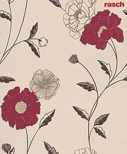 Rasch 573008 Papier Peint en relief Motif floral Beige-Marron classique (Import Allemagne)