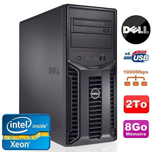 Server Dell PowerEdge t110ii Xeon Quad Core E3–12203.1GHz Nr 8GB 2to DVD (Ricondizionato Certificato)