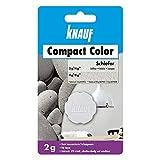 Knauf 4006379080465 Compact Colors Schiefer, hoch konzentrierte, granulierte Farbpigmente zum kompletten Durchfärben mineralischer Putze, vorportioniert, Nicht staubend, lichtecht, 2 g