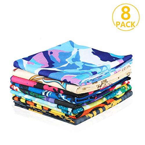 Ivencase® 8x copricapo multifunzione bandana, sciarpa di riciclaggio della bici, maschera di protezione colorate per calcio, ciclismo, climb, hiking