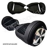 Cover in gel di silicone per Hoverboard e 2 ruote da 16,5 cm, silicone, nero, 6.5 Inch Wheels