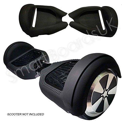 Cover in gel di silicone per Hoverboard con ruote da 6,5 pollici, silicone, BLACK.