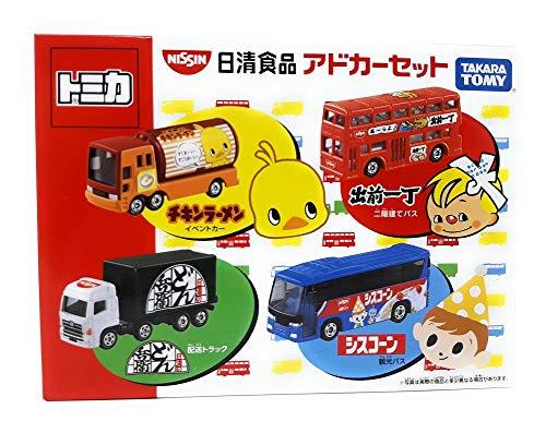TOMICA Takara Tomy Modellauto 4er Set Nissin Food Cars Set London Bus Isuzu Japan