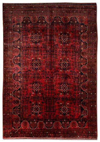 Morgenland afgano khal mohammadi tappeto 196 x 127 cm rosso annodato a mano