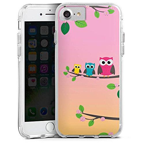 Apple iPhone X Bumper Hülle Bumper Case Glitzer Hülle Eule Eulen Owl Bumper Case transparent