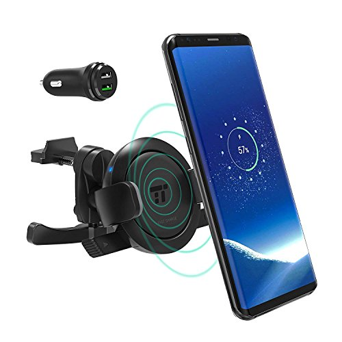 TaoTronics Handyhalterung Auto, Qi Wireless Ladestation und Handyhalter fürs Auto Universale Autohalterung Phone Halter für iPhone, Samsung,und andere Smartphones von 5.8 bis 9 cm