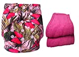 #8: Bottom Genius reusable pocket cloth diaper with 2 number microfiber inserts Butterfly