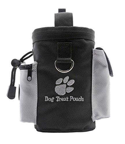 Longwu Nylon Professionelle Qualität Dog Treat Trainingsbeutel Tragen Snacks und Spielzeug für Haustiere Schwarz