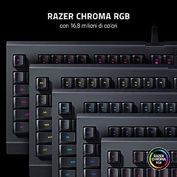 Razer Cynosa Lite Tastiera da Gioco con Illuminazione con RGB Chroma, Completamente Programmabile, Layout Italiano