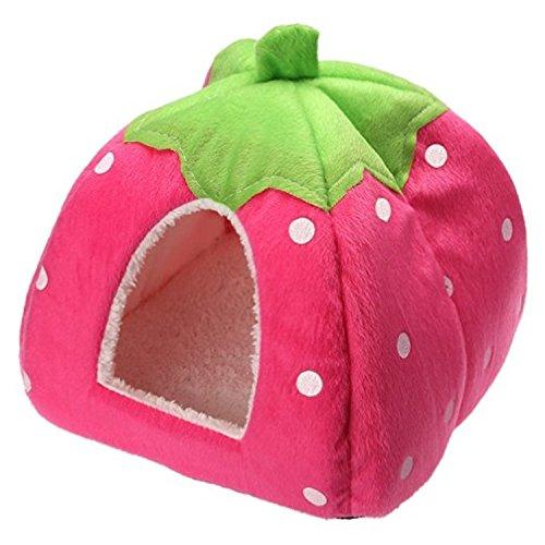 Cama para mascotas forma de fresa