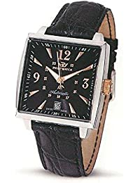 Montre Philip Watch Avalon R8221120025 automatique acier Quandrante Noir Bracelet Cuir
