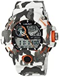 HEAD Reloj Multiesfera para Hombre de Cuarzo con Correa en Resina HE-105-02