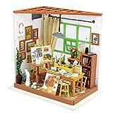 Puppenhaus Bausatz Holz Modell Set Möbliert Zimmer, Selbermachen Basteln Konstruktion Bau Kit Spielzeug für Kinder